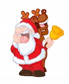 FUNNY SANTA CLAUS AND REINDEER SINGING