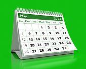 Calendário de maio de 2013