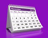 Calendário de novembro de 2013
