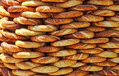pic of bagel  - Traditional turkish crispy sesame bagels  - JPG