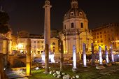 Trajan's Column And Basilica Ulpia, Rome