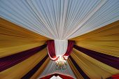 Fabric Decoration On Wedding Party