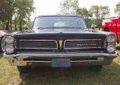1963 Black Pontiac Bonneville Front Grill View