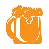 mug of beer icon sign. design element