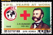 Vintage  Postage Stamp.  Doctor Dunant.