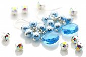Blue Crystal Earrings And Beads