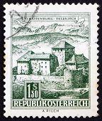 Briefmarke Österreich 1967 Schatten Burg, Feldkirch, vorarlberg
