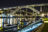 Dom Luis Bridge, Porto Night Cityscape