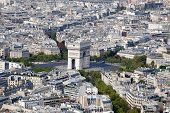 Top View Arch Of Triumph And Etoile Square Paris France
