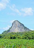 stock photo of chan  - Khao Chee Chan Temple at Pattaya on sky - JPG