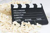 Pop Corns With Cinema Blackboard