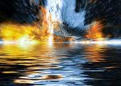 Dramatic Explosion Background