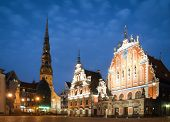 Central Plaza de Riga, Letonia.