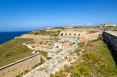 La Mola Fortress of Isabel II at Menorca island, Spain. It was built between 1850 and 1875 at the mouth of Mahon port. poster