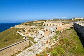 stock photo of mola  - La Mola Fortress of Isabel II at Menorca island - JPG