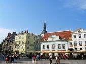 Central Town Hall Square in Tallinn, Estonia