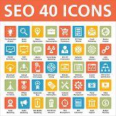 SEO 40 iconos