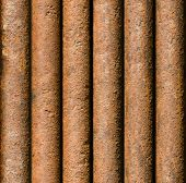 Vertical Rusty Pipe Background