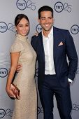 LOS ANGELES - JUL 24:  Cara Santana, Jesse Metcalfe arrives at TNT's 25th Anniversary Party at the B