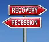 recession or recovery from global financial bank crisis. Stock market crash or growth. Euro or dolla