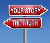 stock photo of tell lies  - telling the truth or tell your true story stop lying no lies search my own real stories - JPG