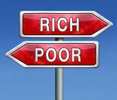 stock photo of poverty  - poor or rich poverty or wealthy gamble and take the risk to win or loose - JPG