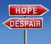 lost hope or despair losing faith and becoming hopeless desperation or hopeful