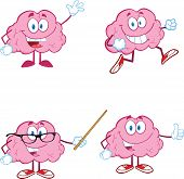Brain Cartoon Mascot Collection 1