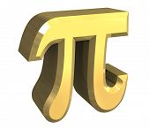 Pi Symbol In Gold