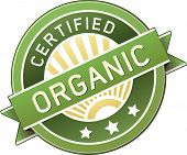 stock photo of food label  - Certified organic food product and service label  - JPG