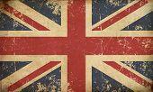 Uk Aged Flat Flag