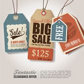 Vintage Style Price Tags Design