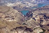 image of apache  - Aerial view of the Horse Mesa Dam between Apache Lake and Canyon Lake
