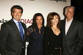 LOS ANGELES - NOVEMBER 09: Pierce Brosnan and Keely Shaye Smith with Mary Steenburgen and Ted Danson at the 2006 Partners Award Gala presented by Oceana at Esquire House November 09, 2006.