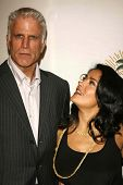 LOS ANGELES - NOVEMBER 09: Ted Danson and Salma Hayek at the 2006 Partners Award Gala presented by Oceana at Esquire House November 09, 2006 in Los Angeles, CA.