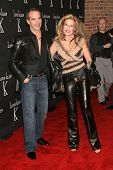 LOS ANGELES - NOVEMBER 14: Lloyd Klein and Jocelyn Wildenstein at the opening party for the Lloyd Kl