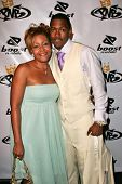 Nick Cannon and his mother Beth Hackett at the birthday party for Nick Cannon and the opening of his
