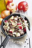 Chicken Liver Stewed With Apples And Onion