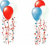 Patriotic Balloon Vector