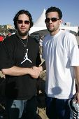 SANTA MONICA, CA - DECEMBER 02: Jordan Farmar and Eric Gagne at Kohl's Holiday Sandman Building Comp