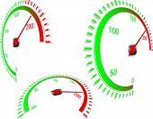 Abstract speedometer