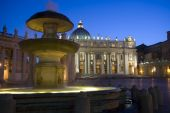 Saint Peter's basilica by night