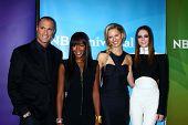 Coco Rocha, Karolina Kurkova, Nigel Barker and Naomi Campbell at NBCUniversal's