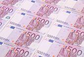 Five hundreds euro banknotes