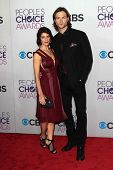 Jared Padalecki and Genevieve Padalecki at the 2013 People's Choice Awards Arrivals, Nokia Theater,