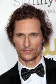 Matthew McConaughey at the 18th Annual Critics' Choice Movie Awards Arrivals, Barker Hangar, Santa Monica, CA 01-10-13