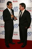 Mayor Antonio Villaraigosa and Emilio Estevez at the AFI Fest 2006 Opening Night Premiere of