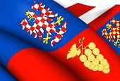 Flag Of South Moravian Region, Czech Republic.