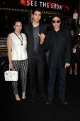 Sophie Simmons, Nick Simmons, Gene Simmons at