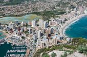 Coastline of Mediterranean Resort Calpe Spain with Sea and Lake